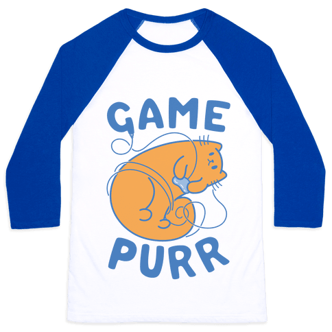 Game Purr Baseball Tee