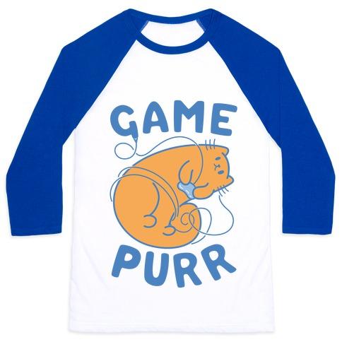 Game Purr Baseball Tee