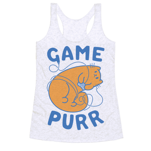Game Purr Racerback Tank Top