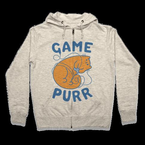 Game Purr Zip Hoodie