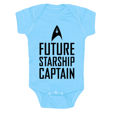 Future Starship Captain Baby Onesy