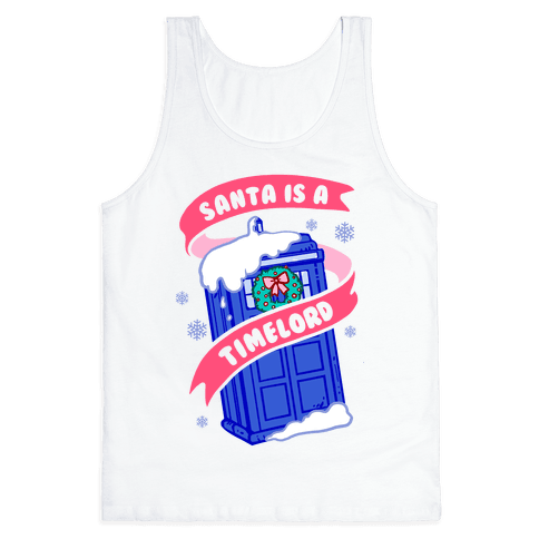 Santa is A Timelord Tank Top