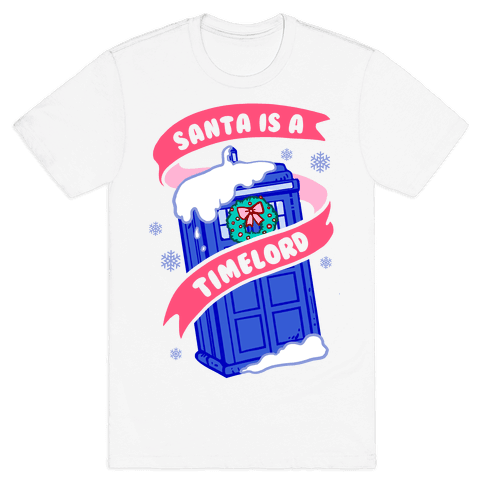 Santa is A Timelord Mens T-Shirt