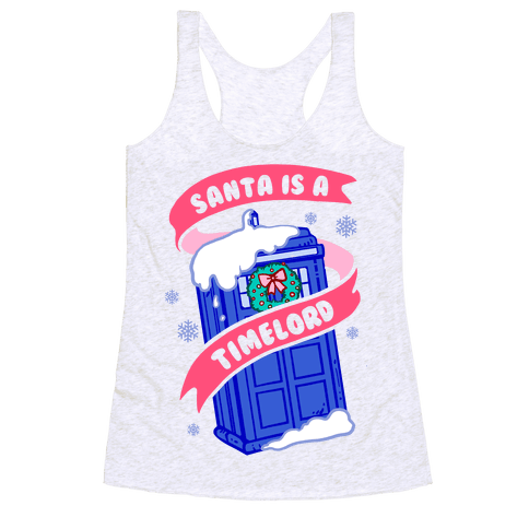 Santa is A Timelord Racerback Tank Top