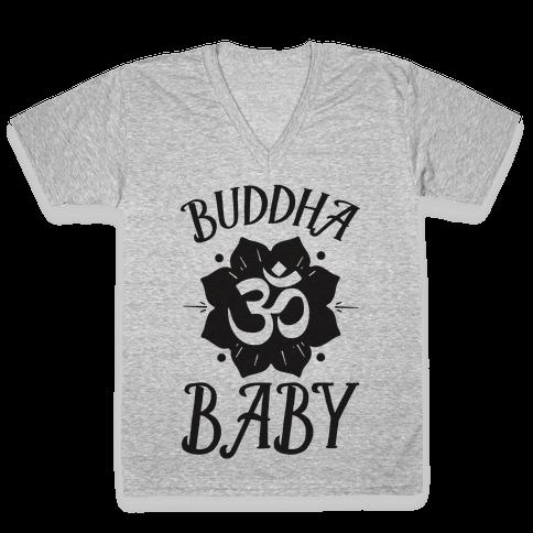Buddha Baby V-Neck Tee Shirt