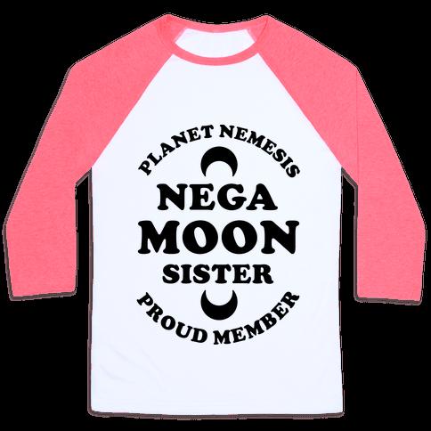 Planet Nemesis Negamoon Sister Baseball Tee
