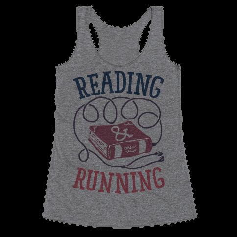 Reading & Running Racerback Tank Top