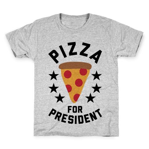 Pizza For President Kids T-Shirt