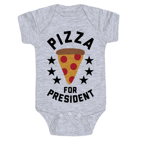 Pizza For President Baby Onesy