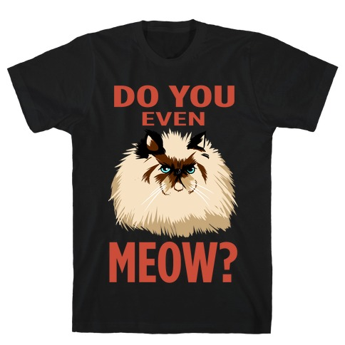 Do You Even Meow? Bro? (dark) Mens T-Shirt