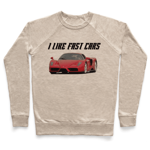 I Like Fast Cars Pullover