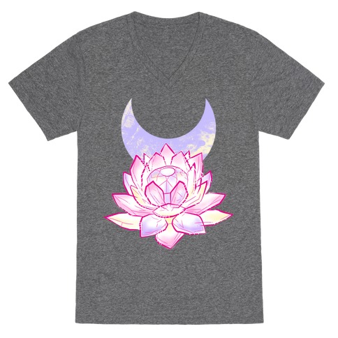 Silver Imperium Crystal V-Neck Tee Shirt