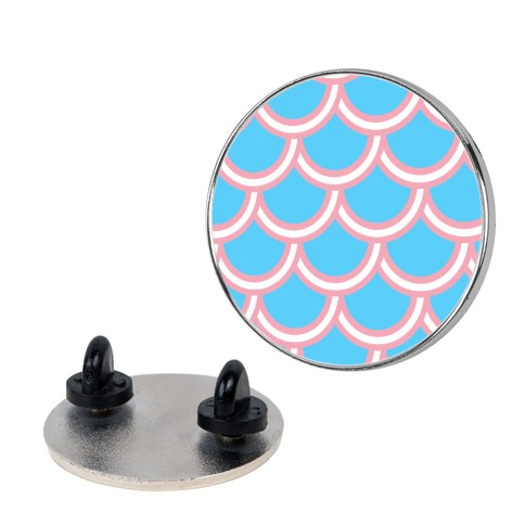 Trans Fish Scales Pin