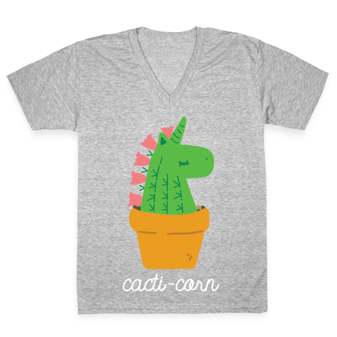Cacti-corn V-Neck Tee Shirt