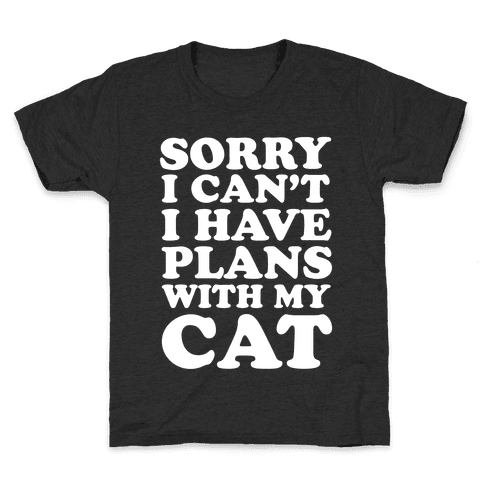 Cat Plans Kids T-Shirt