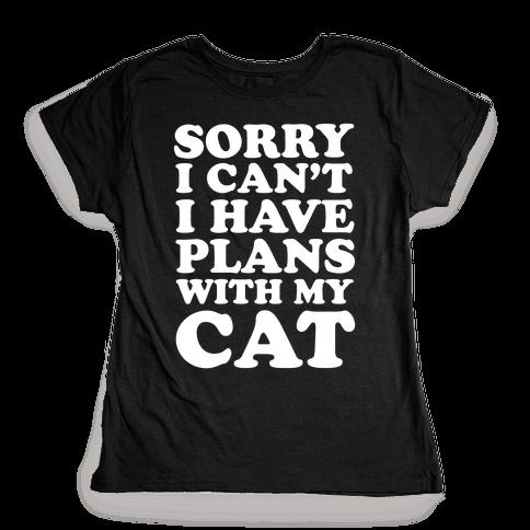 Cat Plans Womens T-Shirt