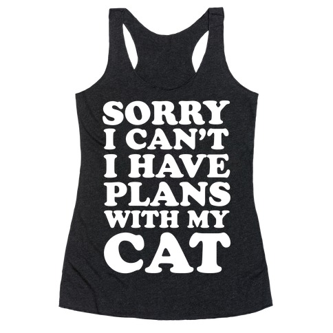 Cat Plans Racerback Tank Top