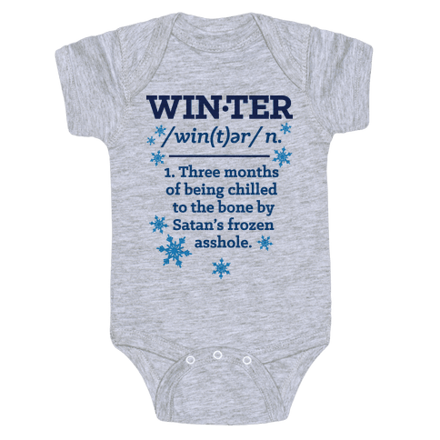 Winter Definition Baby Onesy