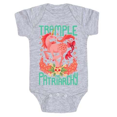 Trample The Patriarchy Baby Onesy