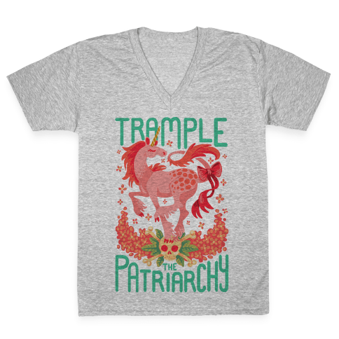 Trample The Patriarchy V-Neck Tee Shirt