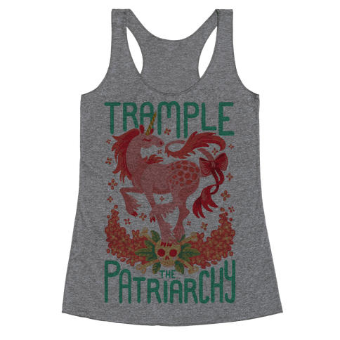 Trample The Patriarchy Racerback Tank Top