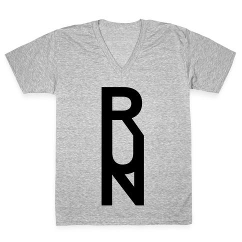 Run V-Neck Tee Shirt