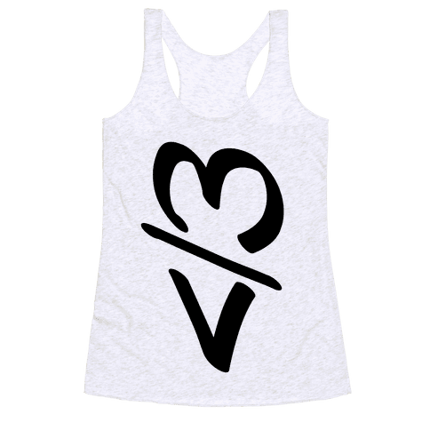 Broken Heart Racerback Tank Top