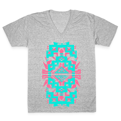 Aztec Vintage (Sweater) V-Neck Tee Shirt