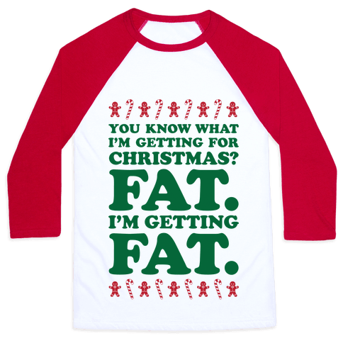 Fat Christmas Baseball Tee