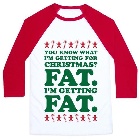 Fat Christmas Baseball Tee