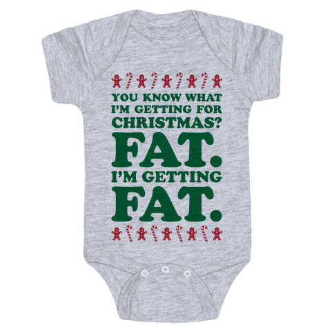 Fat Christmas Baby Onesy