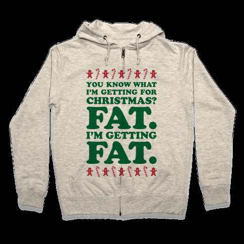 Fat Christmas Zip Hoodie