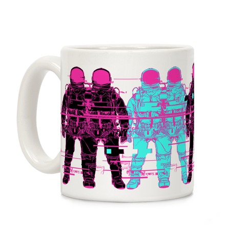 Astronaut Glitches Coffee Mug