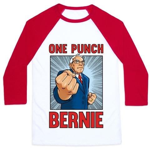 One Punch Bernie Baseball Tee