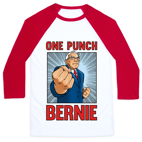 One Punch Bernie Baseball Tee