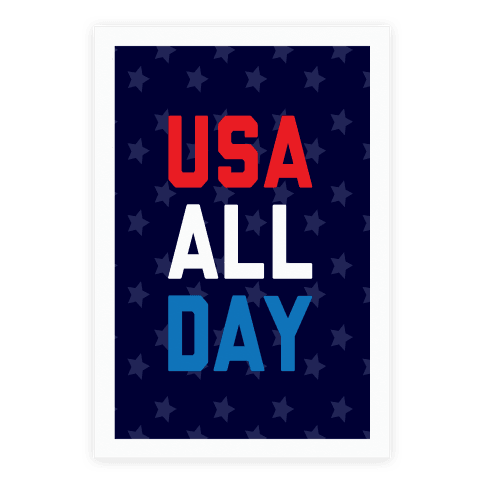 USA All Day Poster