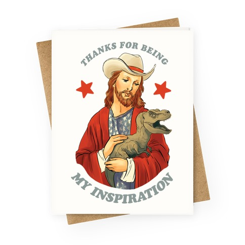 Thank You For Being My Inspiration Greeting Card