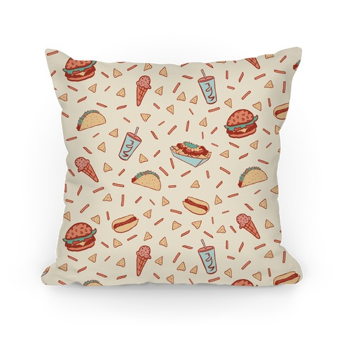 Glorious Junk Food Pattern Pillow