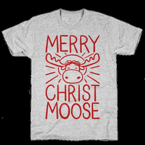 Merry Christmoose Mens T-Shirt