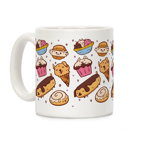 Kawaii Food Dogs Coffee Mug