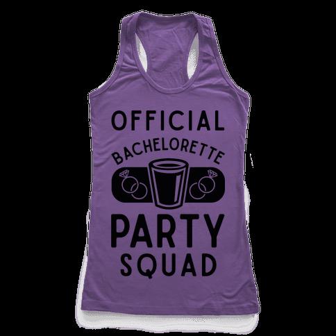 Official Bachelorette Party Squad Racerback Tank Top