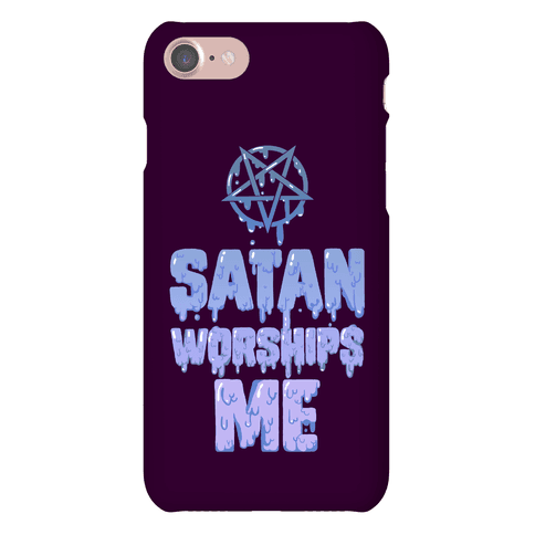 Satan Worships Me Phone Case