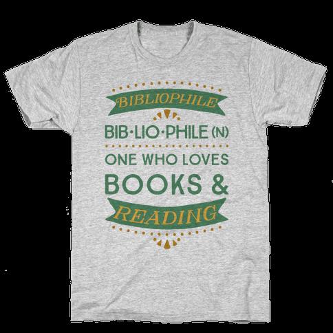 Bibliophile Definition Mens T-Shirt