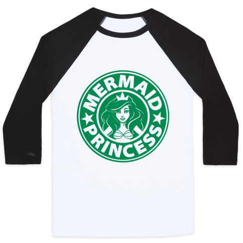 Mermaid Coffee Baseball Tee