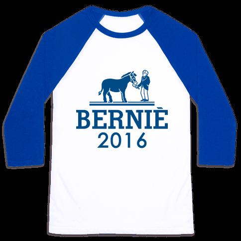 Bernie Sanders 2016 Fashion Parody Baseball Tee