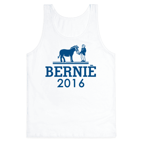 Bernie Sanders 2016 Fashion Parody Tank Top