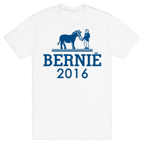 Bernie Sanders 2016 Fashion Parody Mens T-Shirt
