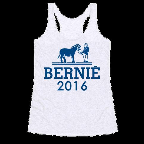 Bernie Sanders 2016 Fashion Parody Racerback Tank Top