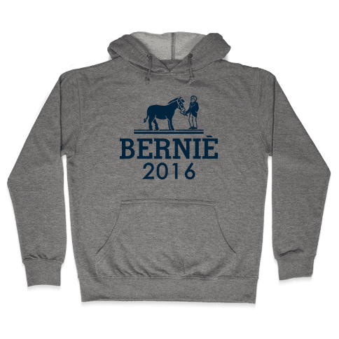 Bernie Sanders 2016 Fashion Parody Hooded Sweatshirt