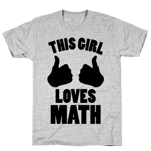 This Girl Loves Math Mens T-Shirt